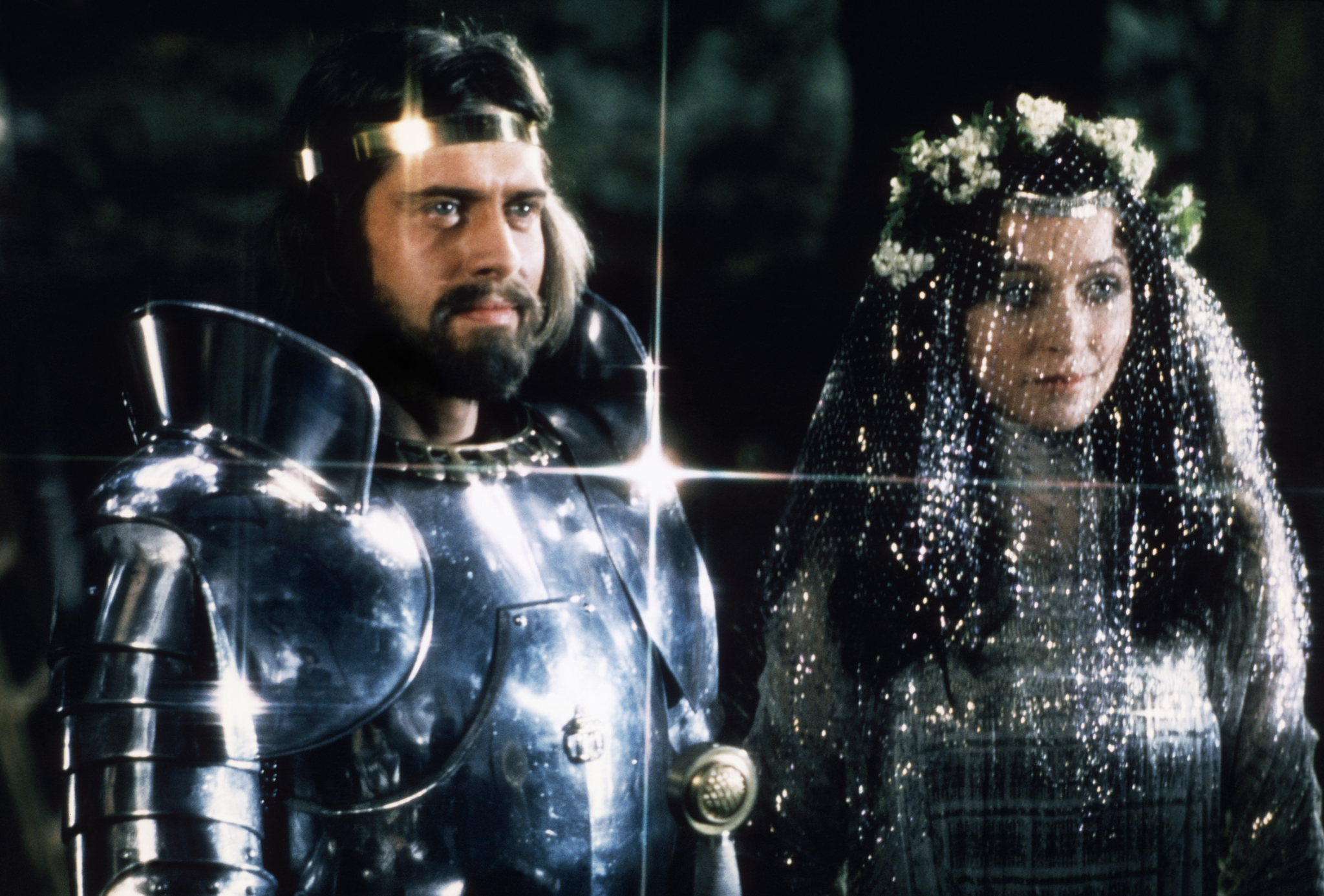 Cherie Lunghi and Nigel Terry in Excalibur (1981)