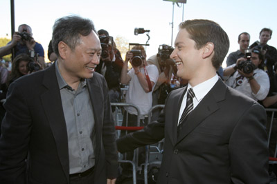 Ang Lee and Tobey Maguire at an event for Spider-Man 3 (2007)