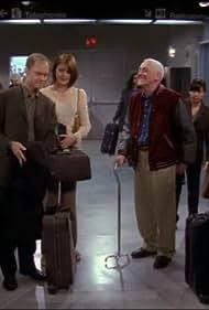 Kelsey Grammer, David Hyde Pierce, John Mahoney, John Ratzenberger, and Jane Leeves in Frasier (1993)