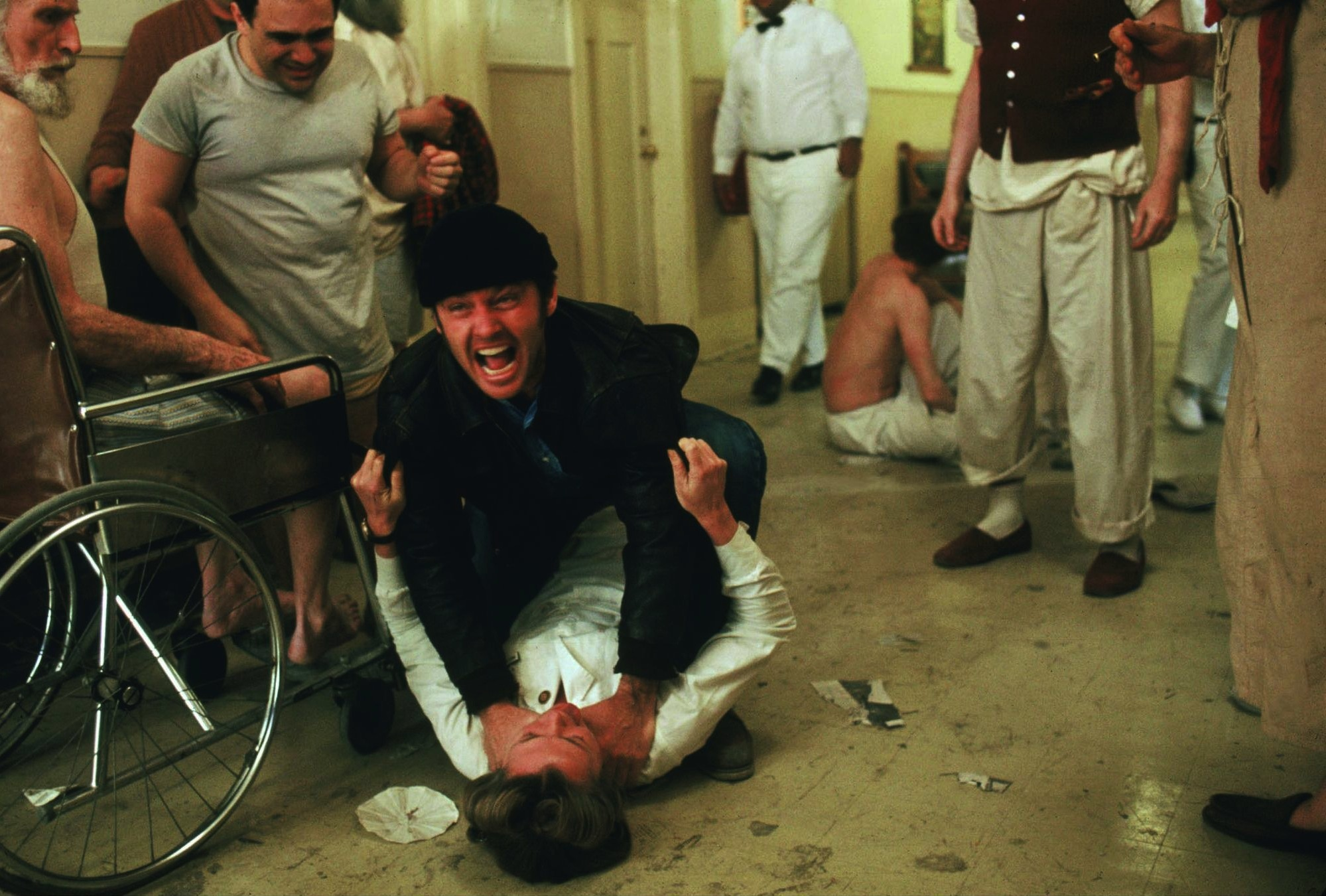 Jack Nicholson, Danny DeVito, Louise Fletcher, and Peter Brocco in One Flew Over the Cuckoo's Nest (1975)