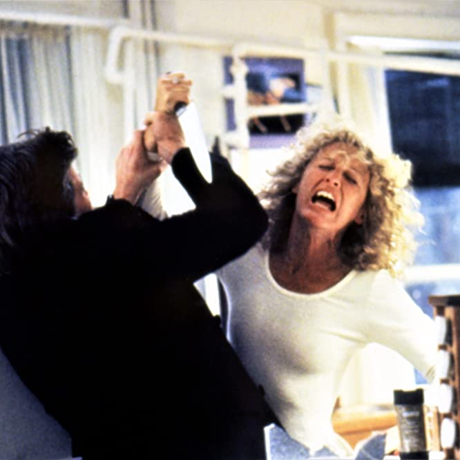 Michael Douglas and Glenn Close in Fatal Attraction (1987)