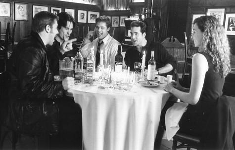 Brad Pitt, Minnie Driver, Jason Patric, Billy Crudup, and Ron Eldard in Sleepers (1996)