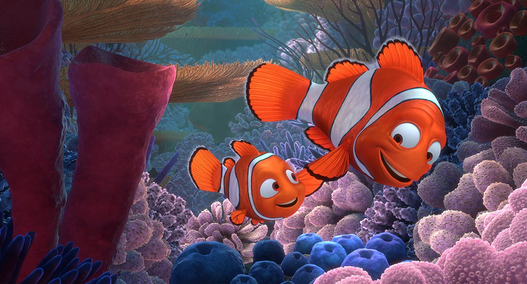 Albert Brooks and Alexander Gould in Finding Nemo (2003)