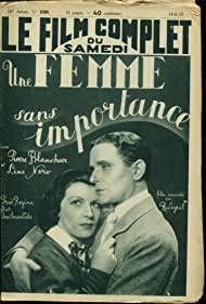 Pierre Blanchar and Line Noro in Une femme sans importance (1937)