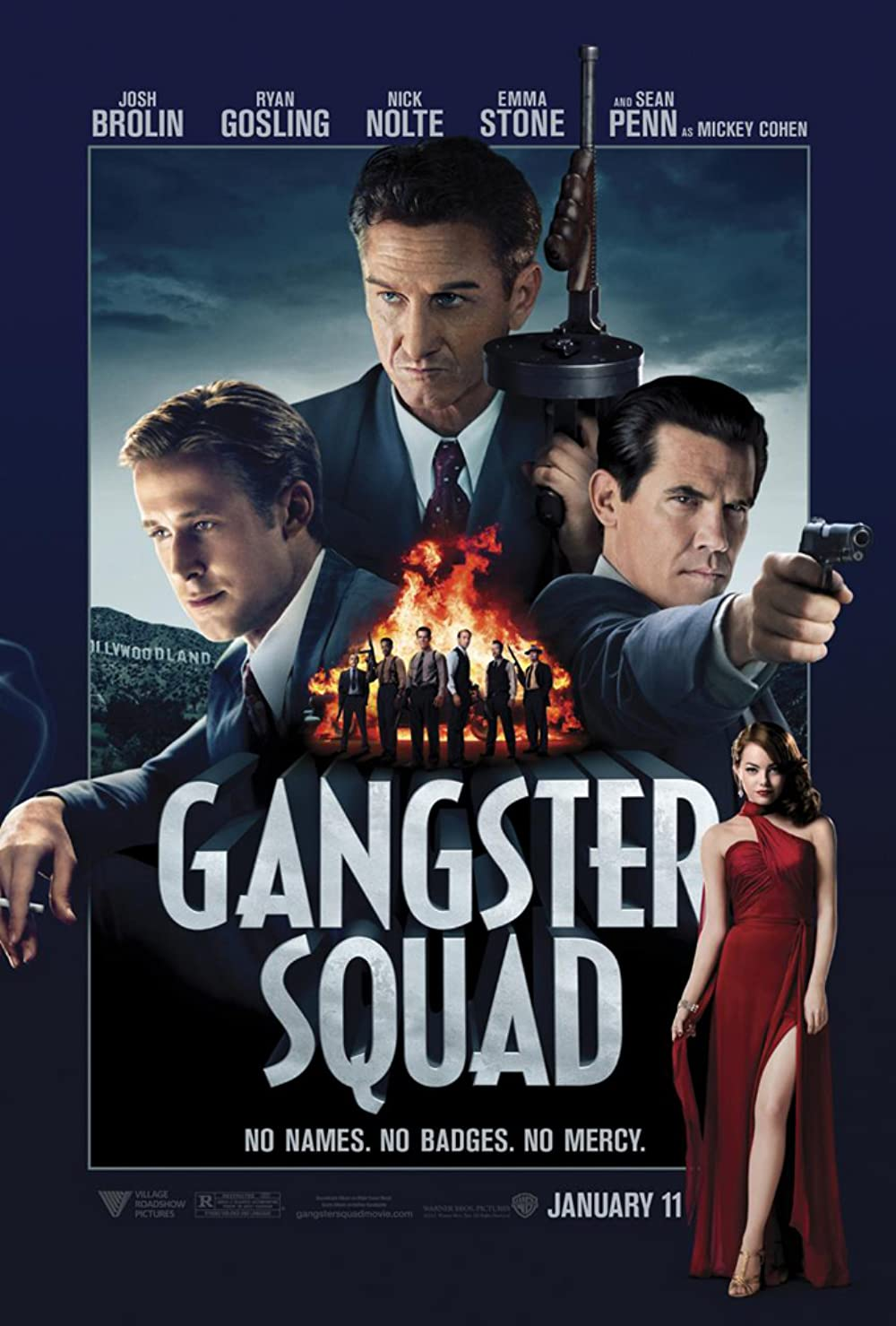 Gangster Squad 2013 Hindi Dual Audio 720p BluRay ESubs 800MB Download