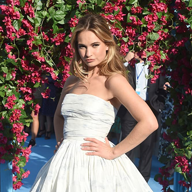 Lily James at an event for Mamma Mia! Here We Go Again (2018)