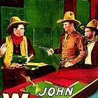 John Wayne, Yakima Canutt, and George 'Gabby' Hayes in Blue Steel (1934)