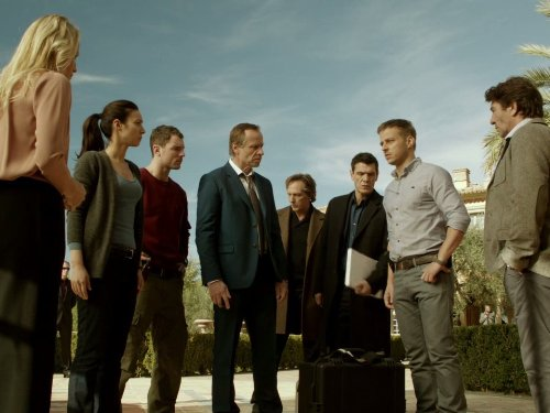 William Fichtner, Albert Goldberg, Estelle Lefébure, Marc Lavoine, Karel Roden, Tom Wlaschiha, Moon Dailly, and Richard Flood in Crossing Lines (2013)