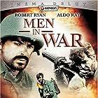 Phillip Pine and Robert Ryan in Men in War (1957)