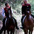 William Shatner and Patrick Stewart in Star Trek: Generations (1994)
