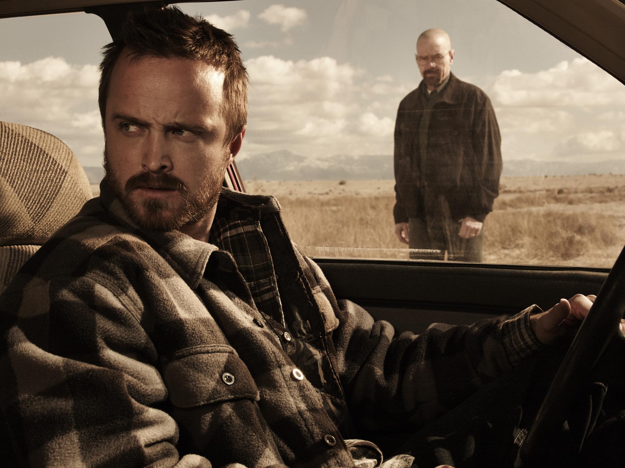 Bryan Cranston and Aaron Paul in Breaking Bad (2008)