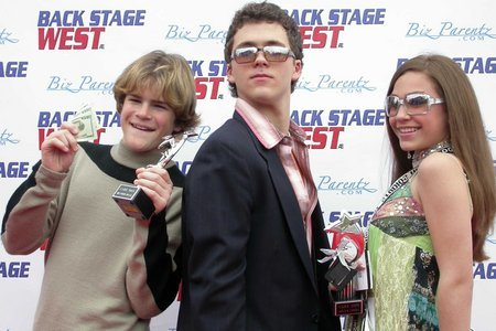 Brandon Haas, Stephen Lunsford and Kelci B. Lowry at 2005 CARE Awards Universal Studios, CA awarded for their work on feature film BLOOD DEEP