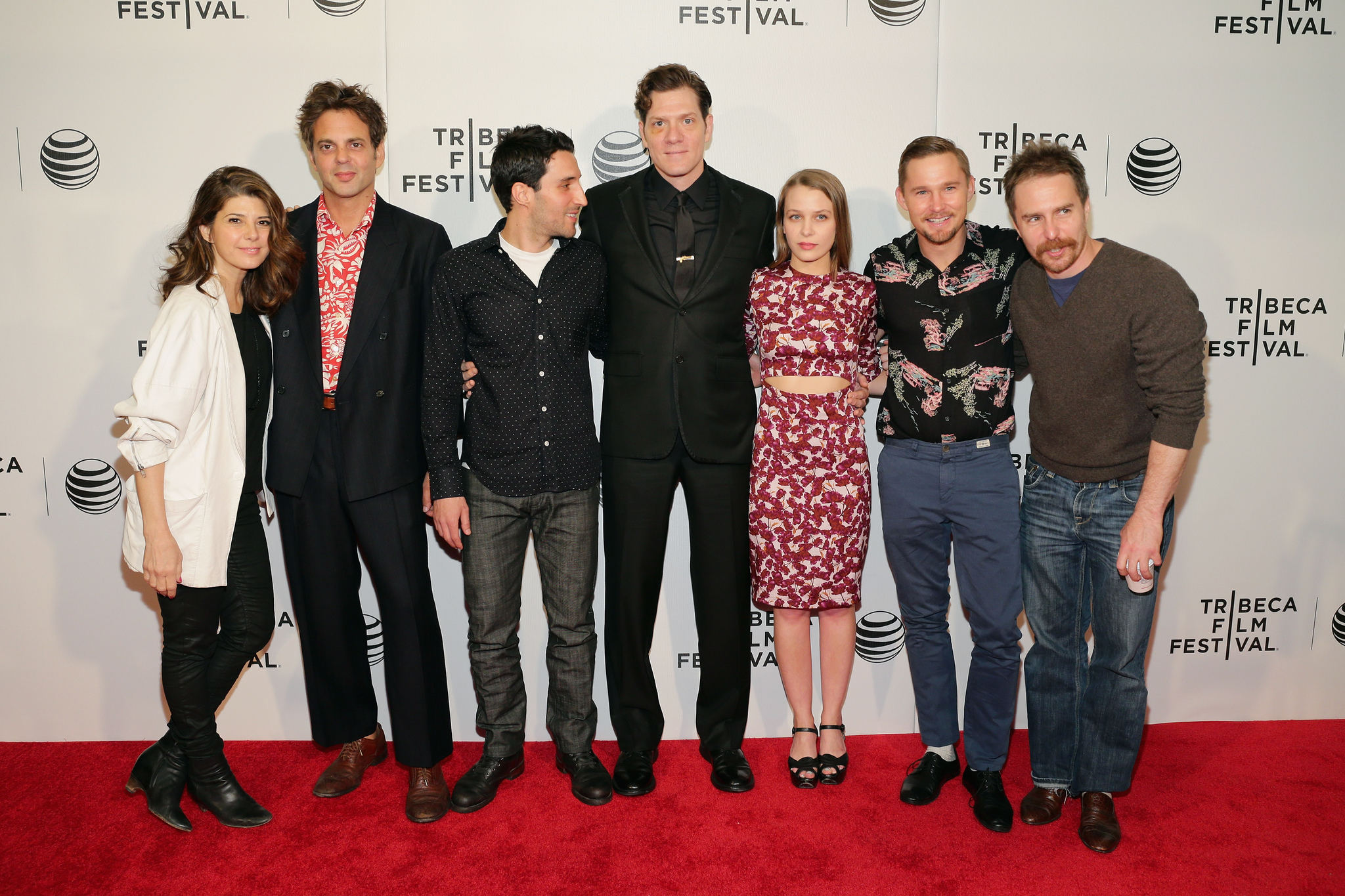 Marisa Tomei, Sam Rockwell, Michael Godere, Ivan Martin, Brian Geraghty, Adam Rapp, and Isabelle McNally at an event for Loitering with Intent (2014)