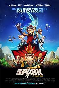 Susan Sarandon, Patrick Stewart, Jessica Biel, Hilary Swank, Athena Karkanis, and Jace Norman in Spark: A Space Tail (2016)