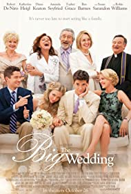 Robert De Niro, Susan Sarandon, Robin Williams, Diane Keaton, Katherine Heigl, Christine Ebersole, Topher Grace, Amanda Seyfried, and Ben Barnes in The Big Wedding (2013)