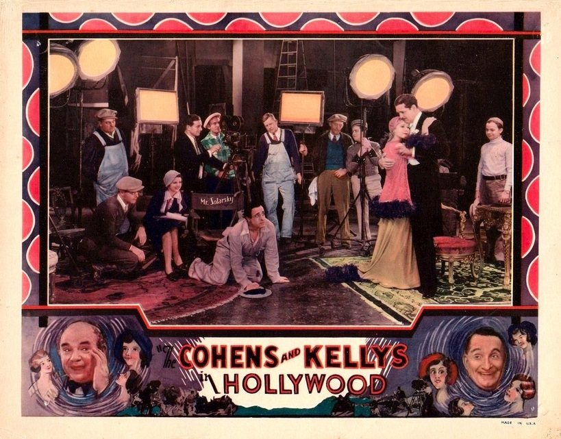 Dorothy Christy, June Clyde, Emma Dunn, Norman Foster, Esther Howard, Charles Murray, and George Sidney in The Cohens and Kellys in Hollywood (1932)