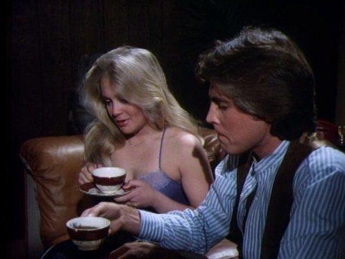 Charlene Tilton, Leigh McCloskey, and Mark Wheeler in Dallas (1978)