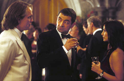 Rowan Atkinson, John Malkovich, and Natalie Imbruglia in Johnny English (2003)