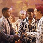Queen Latifah, Paul Anthony, Kamron, Christopher Martin, Christopher Reid, and William Schallert in House Party 2 (1991)