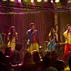 Lea Michele, Naya Rivera, Demi Lovato, Adam Lambert, and Chris Colfer in Glee (2009)