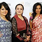 Sarita Choudhury, Dolly Ahluwalia, and Shikha Talsania at an event for Midnight's Children (2012)