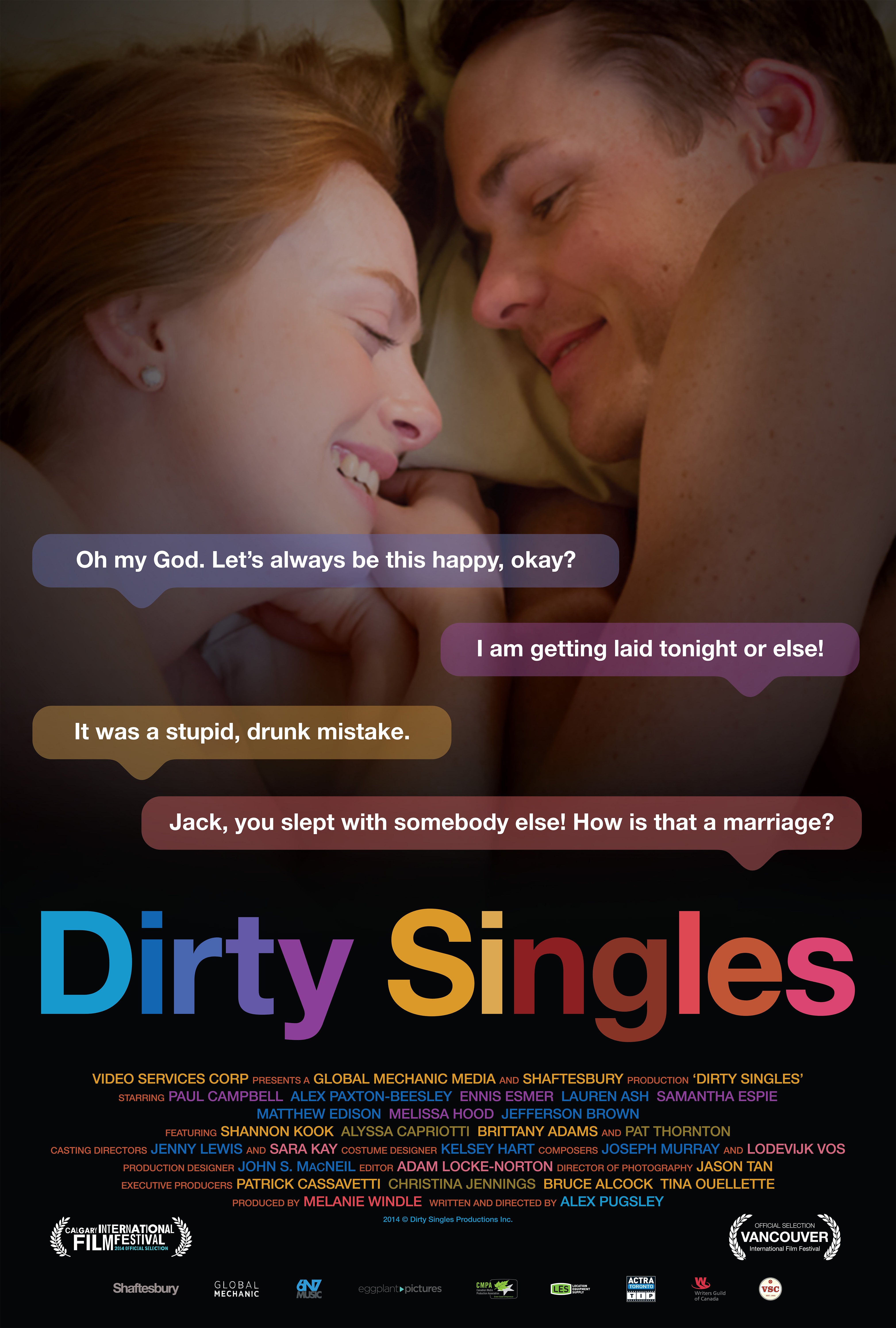 Paul Campbell and Alex Paxton-Beesley in Dirty Singles (2014)