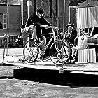 Jacques Tati, Guy Decomble, and Paul Frankeur in Jour de fête (1949)