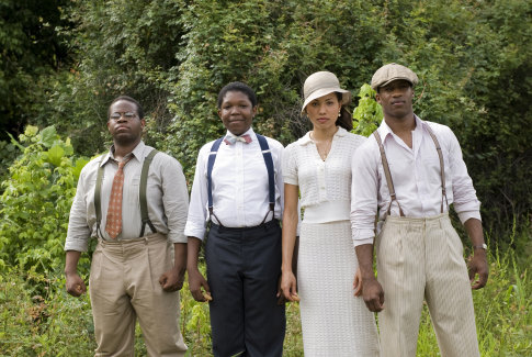 Jurnee Smollett, Jermaine Williams, Denzel Whitaker, and Nate Parker in The Great Debaters (2007)
