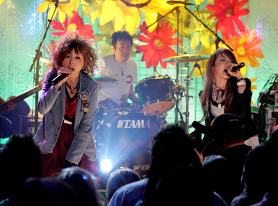 Puffy AmiYumi at an event for Jimmy Kimmel Live! (2003)