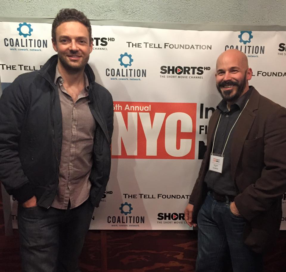 Actor Ross Marquand and Director Brian Crewe at the New York City Premiere of their film UNE LIBÉRATION at the New York City Indie Film Festival.