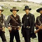 Dylan McDermott, James Van Der Beek, Ashton Kutcher, and Usher in Texas Rangers (2001)