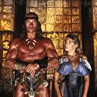 Arnold Schwarzenegger and Olivia d'Abo in Conan the Destroyer (1984)
