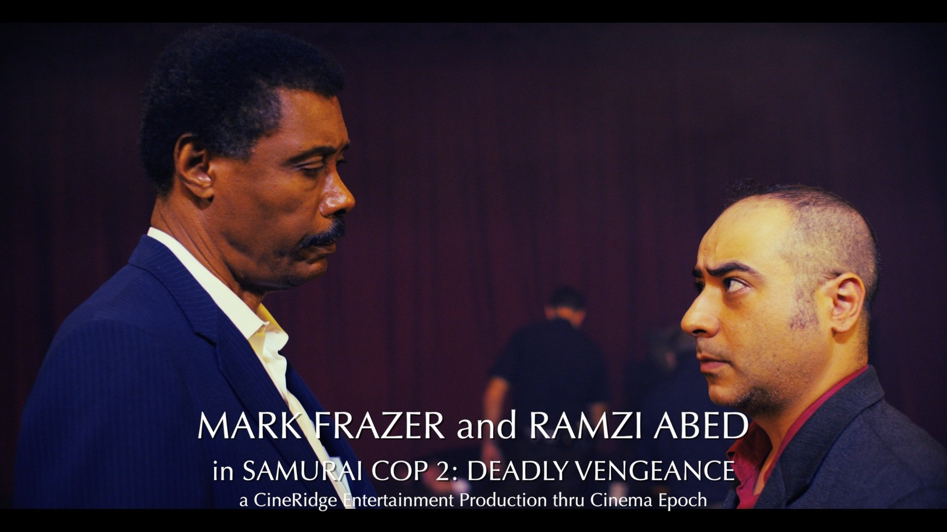 Mark Frazer and Ramzi Abed in SAMURAI COP 2: DEADLY VENGEANCE