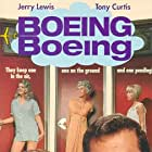 Tony Curtis, Jerry Lewis, Suzanna Leigh, Dany Saval, and Christiane Schmidtmer in Boeing, Boeing (1965)