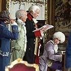 (L-r:) Mozart (TOM HULCE), Emperor Joseph II (JEFFREY JONES), Count Von Strack (RODERICK COOK) and Count Orsini-Rosenberg