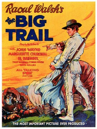 John Wayne and Marguerite Churchill in The Big Trail (1930)