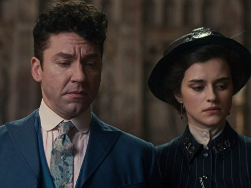 Michael Weston and Rebecca Liddiard in Houdini and Doyle (2016)