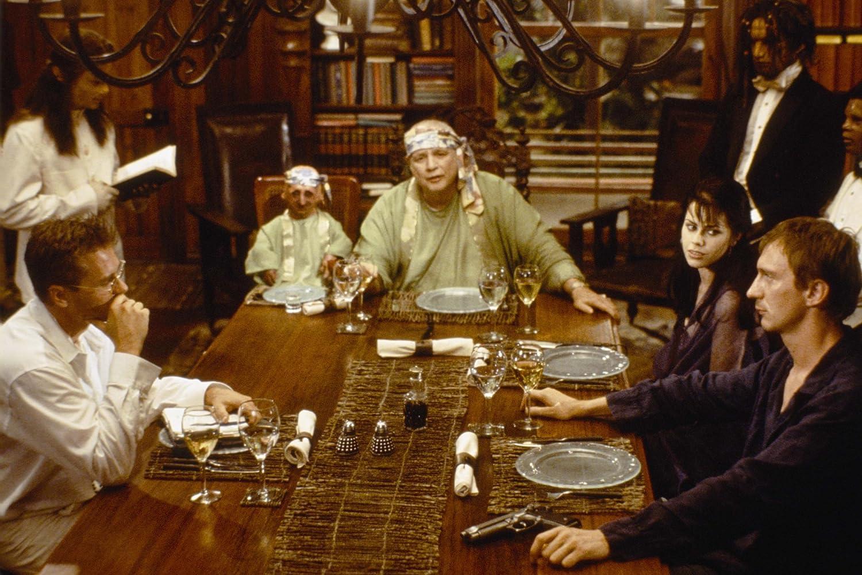 Marlon Brando, Fairuza Balk, Val Kilmer, David Thewlis, Nelson de la Rosa, and Temuera Morrison in The Island of Dr. Moreau (1996)