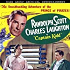 Randolph Scott and Charles Laughton in Captain Kidd (1945)