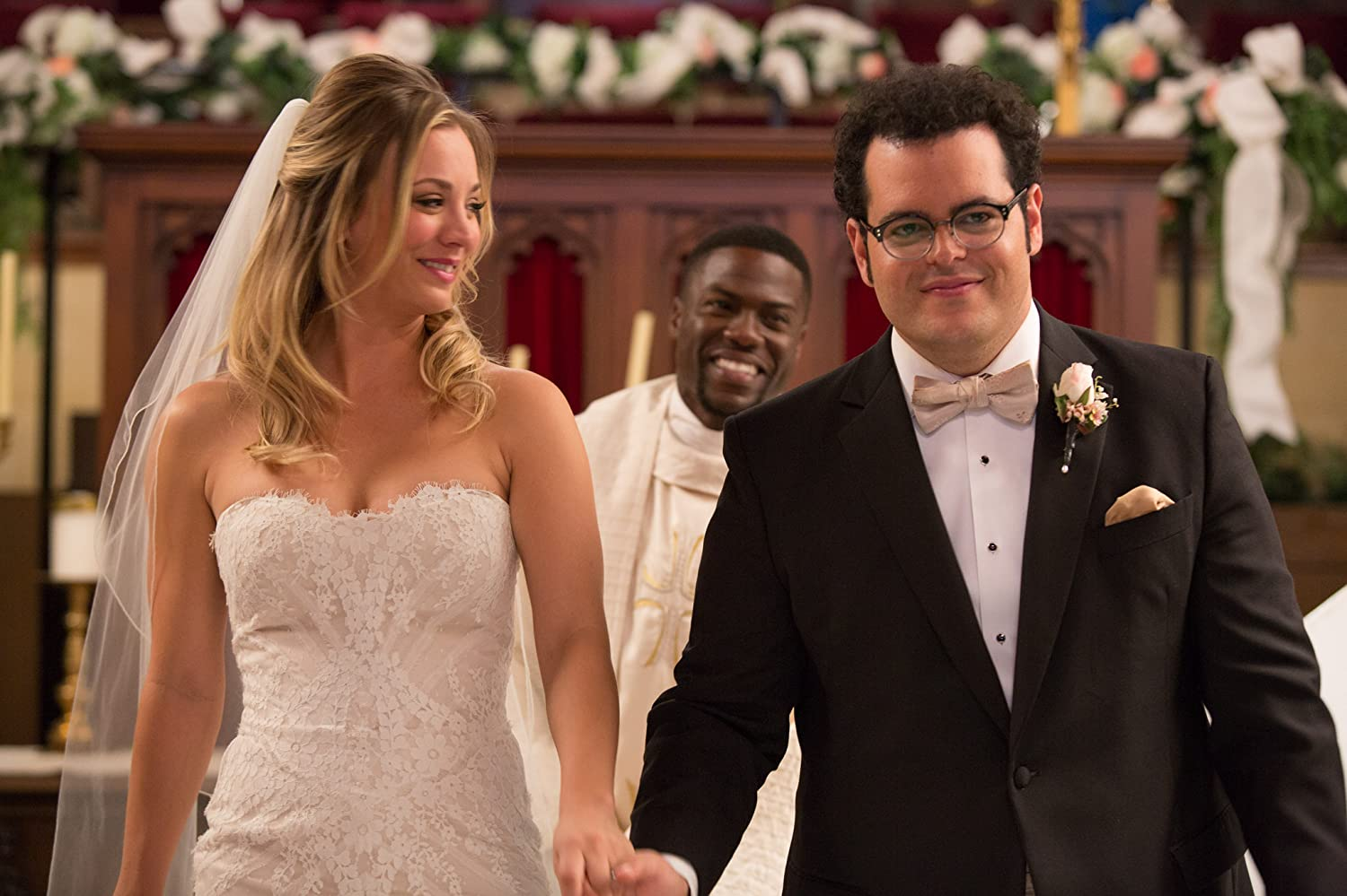 Kaley Cuoco, Kevin Hart, and Josh Gad in The Wedding Ringer (2015)