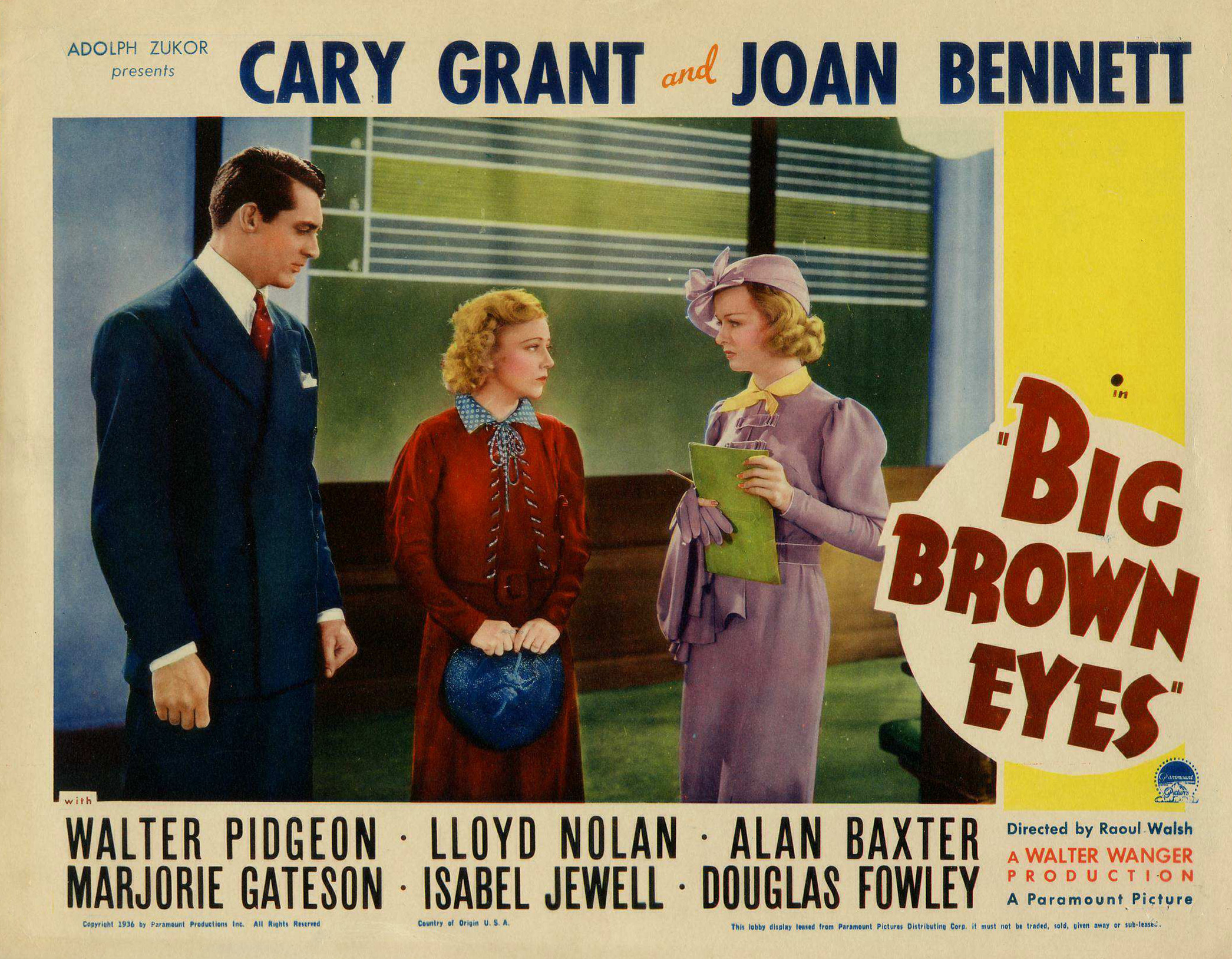 Cary Grant, Joan Bennett, and Isabel Jewell in Big Brown Eyes (1936)