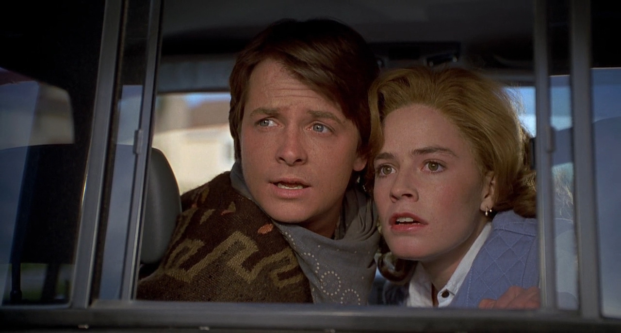 Michael J. Fox and Elisabeth Shue in Back to the Future Part III (1990)