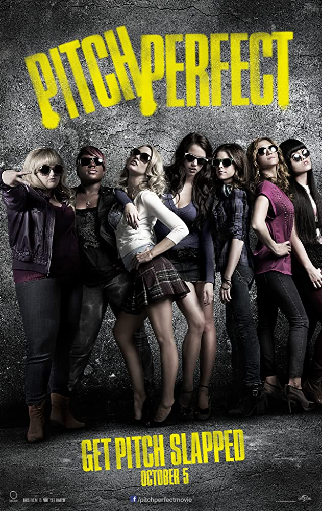 Anna Kendrick, Brittany Snow, Rebel Wilson, Anna Camp, Hana Mae Lee, Alexis Knapp, and Ester Dean in Pitch Perfect (2012)
