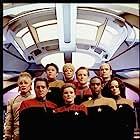 Robert Beltran, Jennifer Lien, Robert Duncan McNeill, Kate Mulgrew, Robert Picardo, Roxann Dawson, Ethan Phillips, Tim Russ, and Garrett Wang in Star Trek: Voyager (1995)