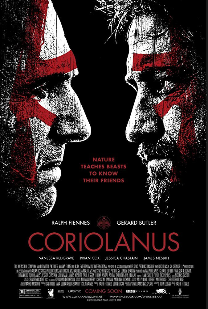 Ralph Fiennes and Gerard Butler in Coriolanus (2011)