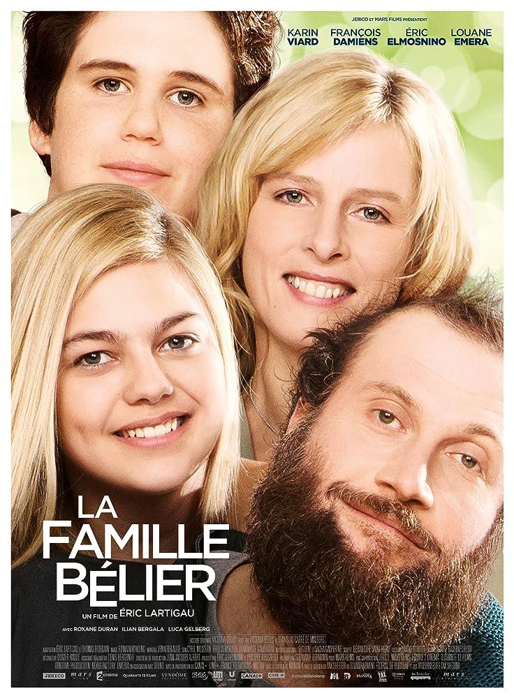 Karin Viard, François Damiens, Louane Emera, and Luca Gelberg in La famille Bélier (2014)