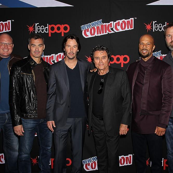 Keanu Reeves, Basil Iwanyk, Ian McShane, Chad Stahelski, Common, and Derek Kolstad