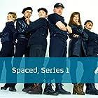 Katy Carmichael, Julia Deakin, Nick Frost, Mark Heap, Simon Pegg, and Jessica Hynes in Spaced (1999)