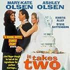 Kirstie Alley, Steve Guttenberg, Ashley Olsen, Mary-Kate Olsen, and Jane Sibbett in It Takes Two (1995)