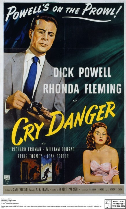 Rhonda Fleming and Dick Powell in Cry Danger (1951)